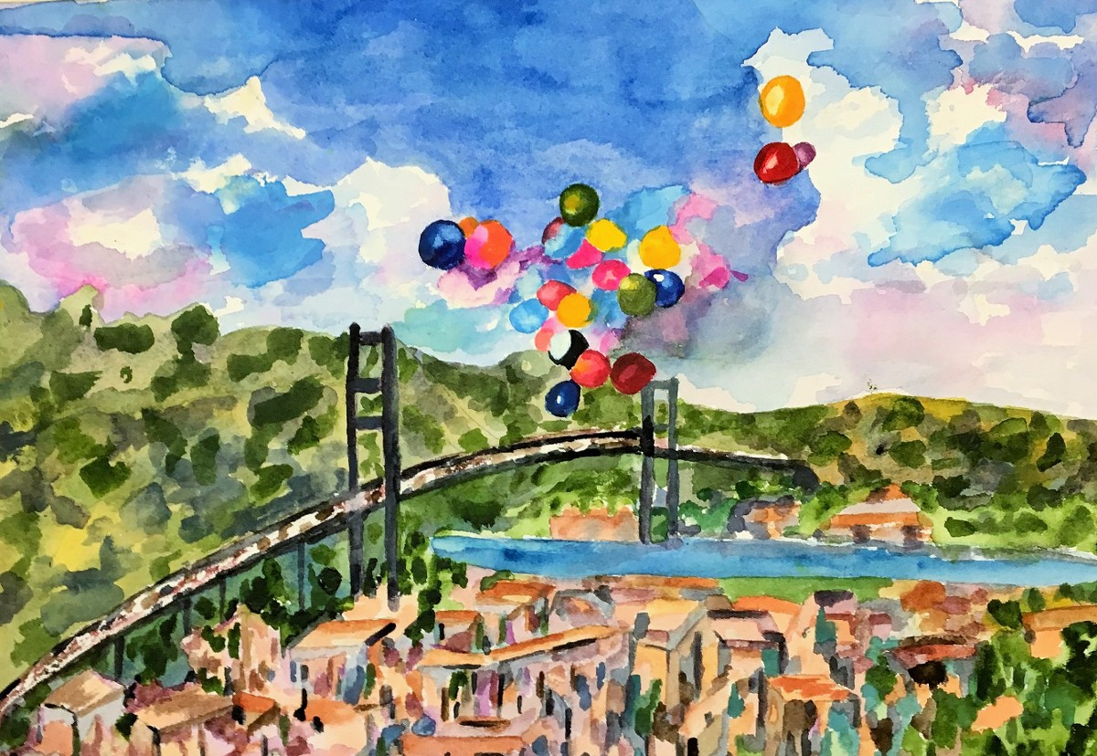 """Balloons Over Istanbul"" by Angela Giraldi"