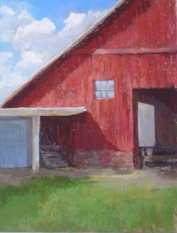 Barn at Temple Hall by Libby Stevens