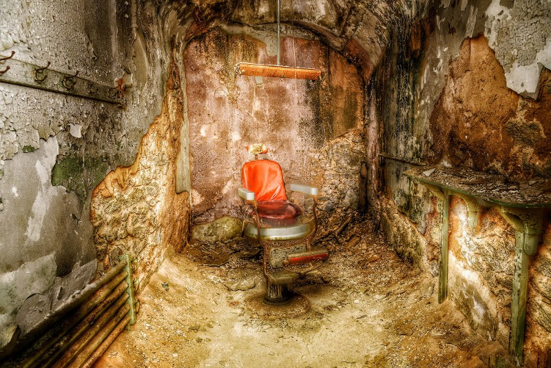 """Big Red (The Barber of ESP) - Eastern State Penitentiary"" by Samantha Marshall"