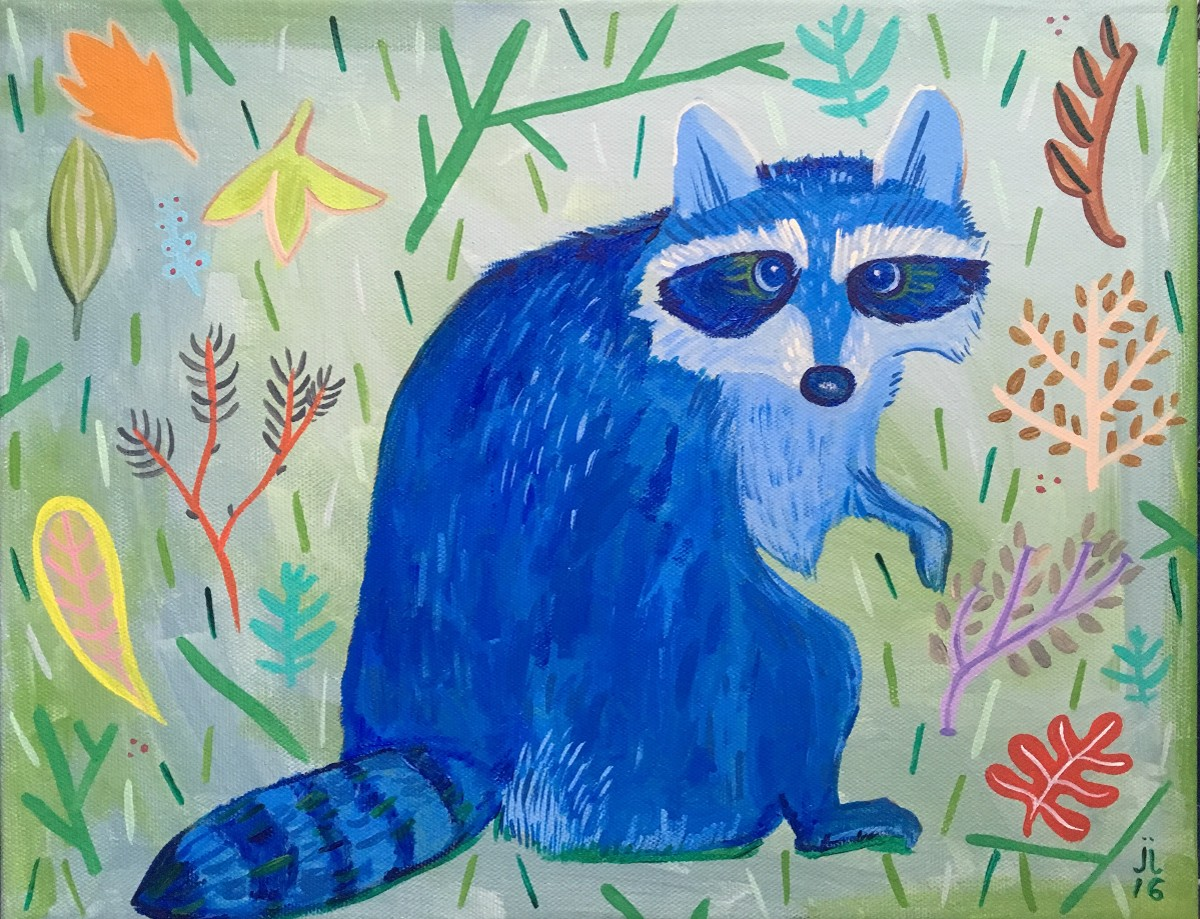 """Blue Raccoon"" by June Jewell"
