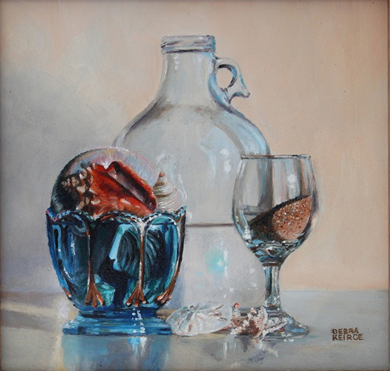 """Vacation Ingredients"" - oil - 5"" x 5"" - by Debra Keirce"