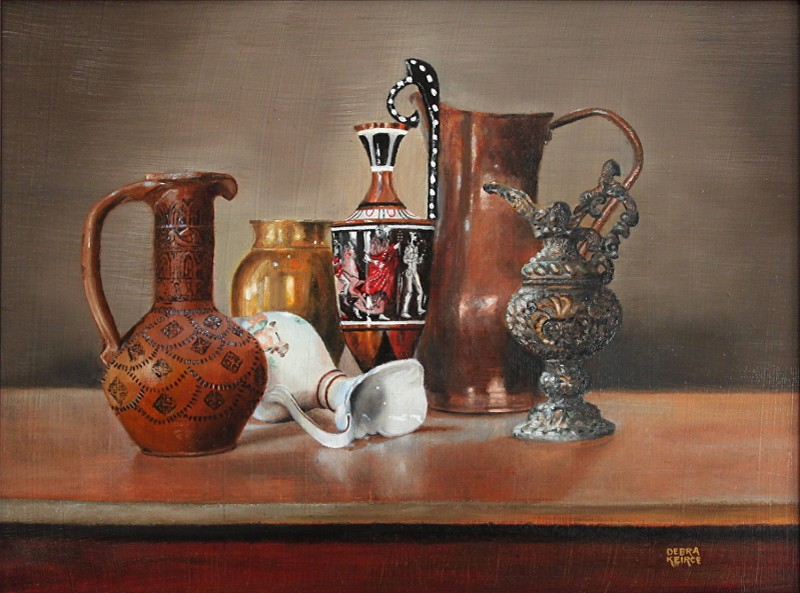 """Urniture"" - oil - 12"" x 16"" - by Debra Keirce"