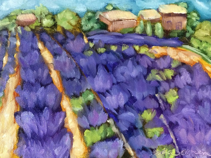 """Fields of Lavender"" by Lisa Cohen (price includes tax)"