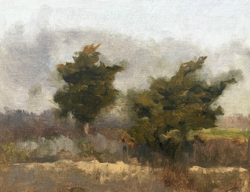 Plein Air Study (Old Lyme, Connecticut) by Laura Hopkins
