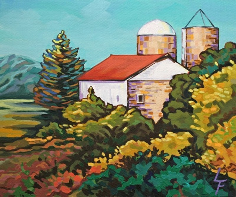 """October Morning at Saint Eden Farm"" by Leanne Fink"