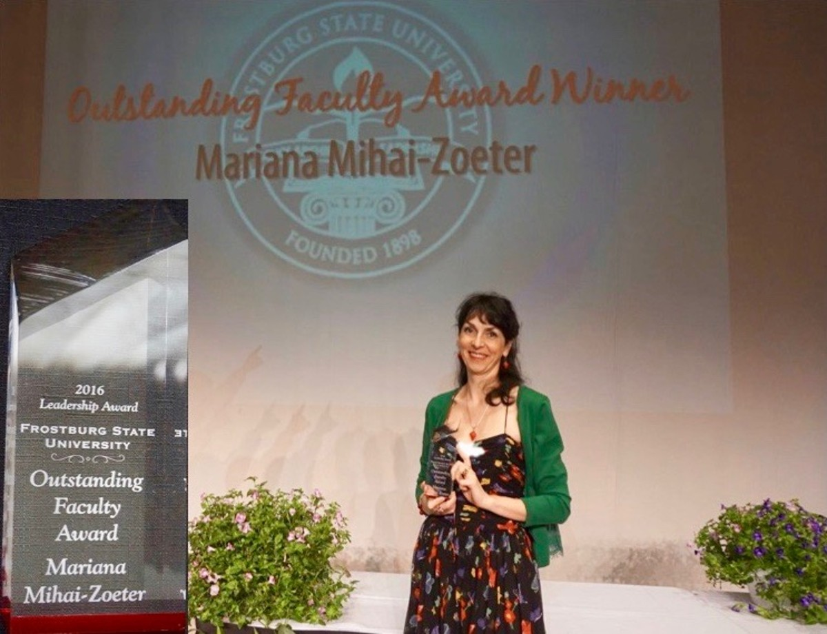 2016 Outstanding Faculty Award Winner, FSU, Dr. Mihai-Zoeter was selected from a group of 16 other nominees from the entire university