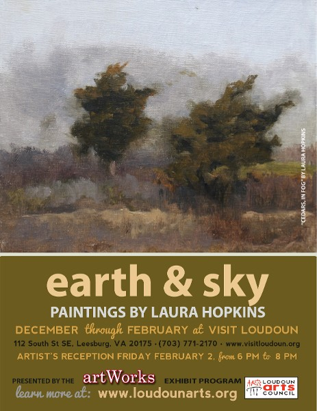 "Laura Hopkins' landscapes reflect ""Earth & Sky"""