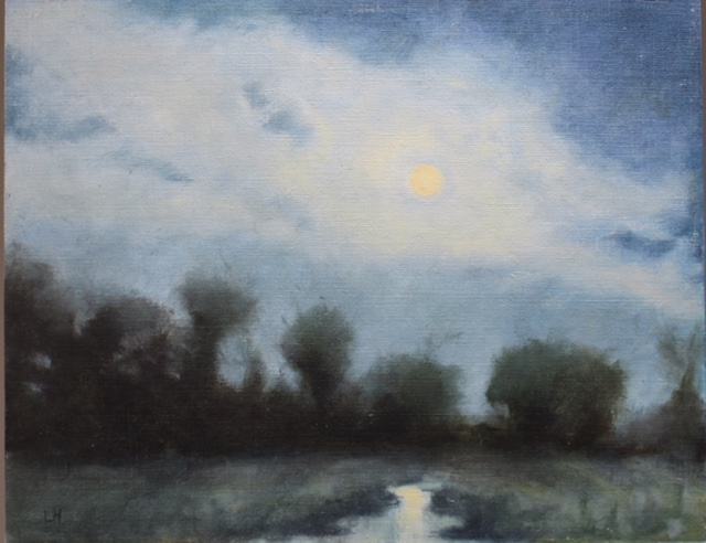 """Pasture Moonrise"" by Laura Hopkins"