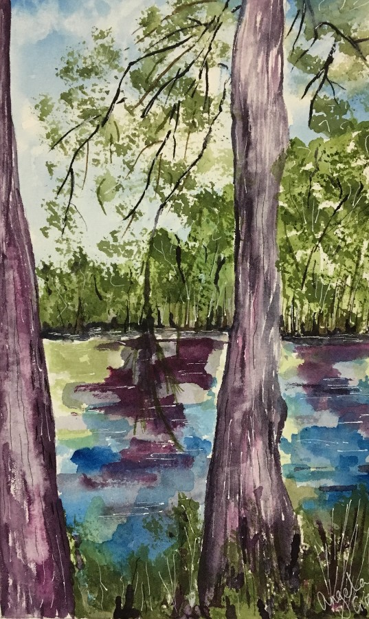 """Pond at Magnolia Plantation"" by Angela Giraldi"
