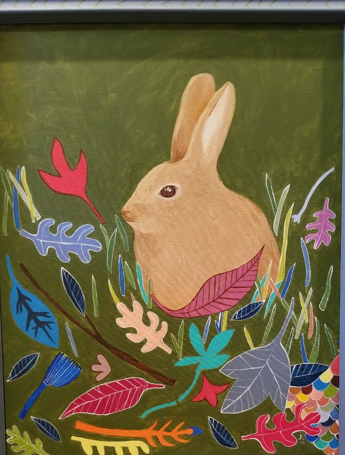"""Rabbit in the Leaves"" by June Jewell"