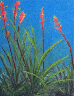 """Red Yucca"" by Charlotte B. DeMolay"