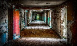 """Ruins Down the Way - Trans-Allegheny Asylum"" by Samantha Marshall"