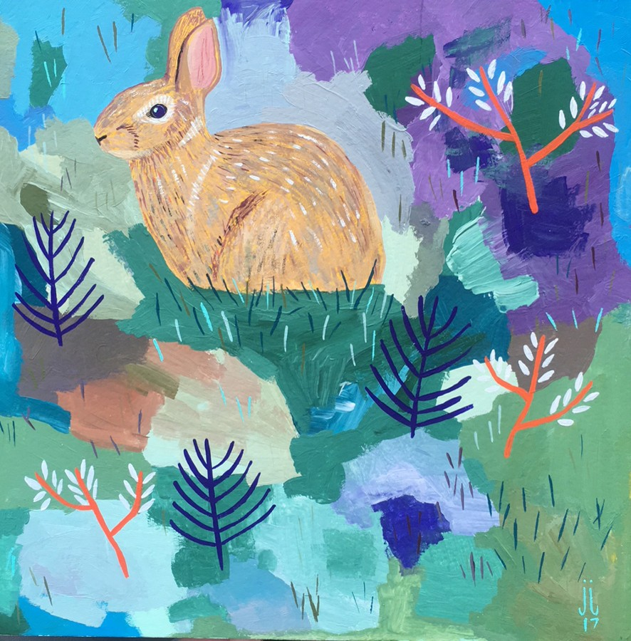 """Square Hare"" by June Jewell"