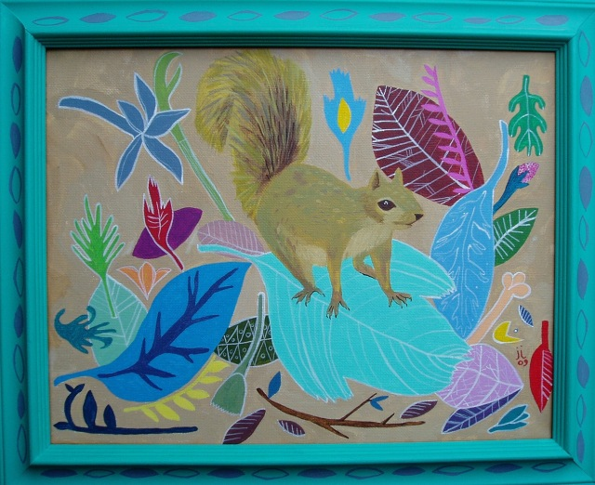 """Squirrel in the Leaves"" by June Jewell"