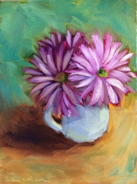 """Teacup Flowers"" by Lisa Cohen (price includes tax)"