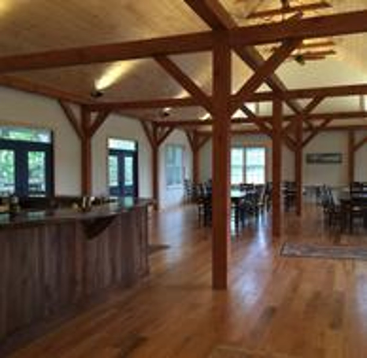 Zephaniah's new timber frame barn is a great venue for groups, meetings, and wonderful events